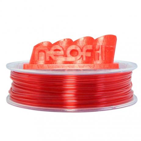 PET-G Rouge transparent 1.75mm Neofil3D