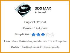 3DS Max - Formation Makershop à la modélisation 3D