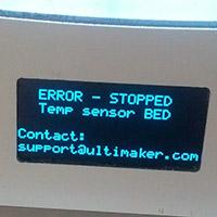 Erreur de capteurL'écran LCD indique une erreur liée au capteur de température