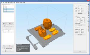 Interface Simplify 3d version 3