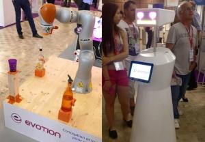 A gauche : robot Kuka  A droite : Sheldon