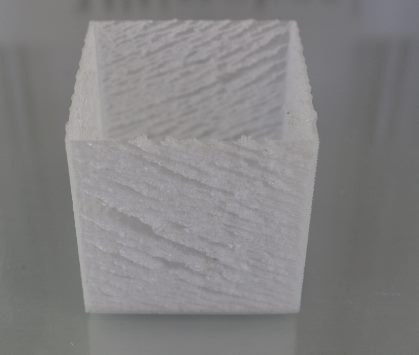 Effet marbré filament transparent