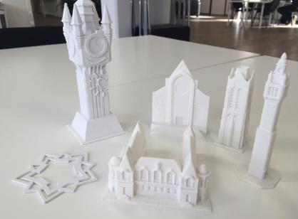 Monuments de la ville de Lilles imprimés en 3D