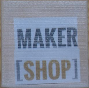 Texte Makershop filament transparent