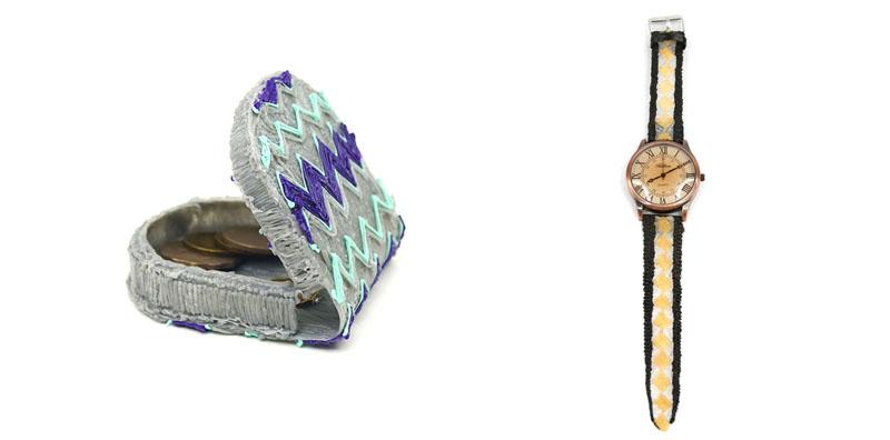 portefeuille et montre