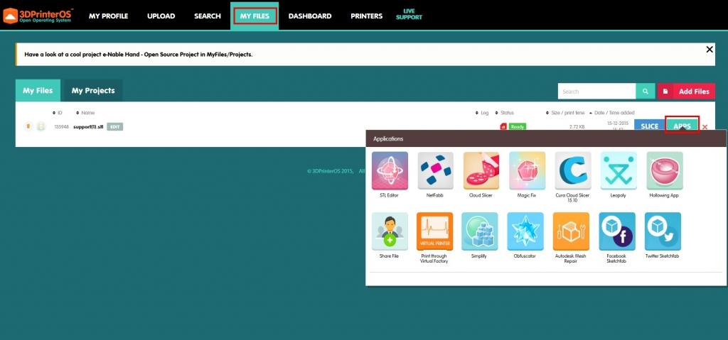 applications 3dprinteros