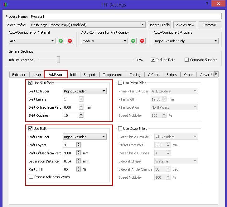 Configuration Simplify3D : obtenir des pièces précises