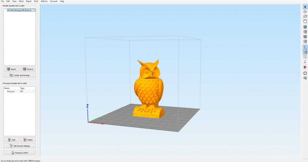 owl globale process simplify 3D