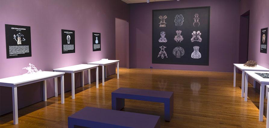 Exposition d'oeuvres d'art imprimées en 3D