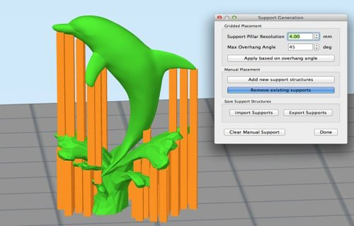 Simplify 3D manual support control