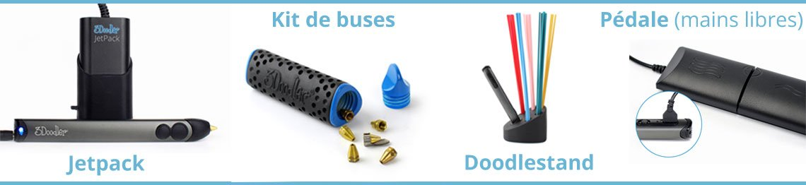 Pack accessoires stylo 3d 3Doodler 2.0
