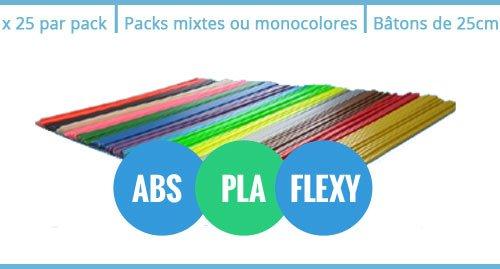 Packs recharges stylo 3D 3Doodler 2.0