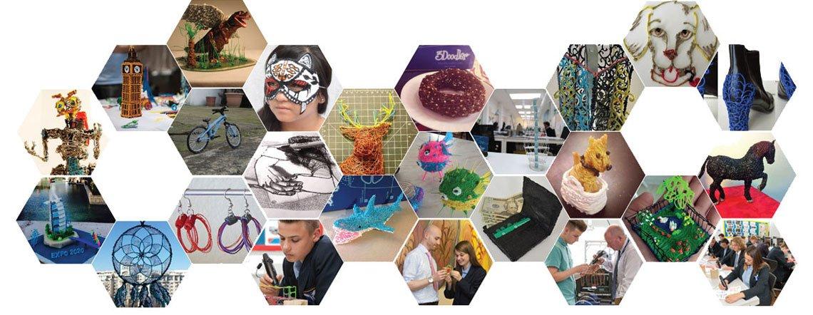 Stylo 3D 3Doodler 2.0 créations