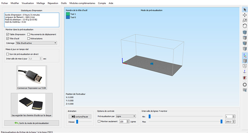 simplify 3d visualisation gcode
